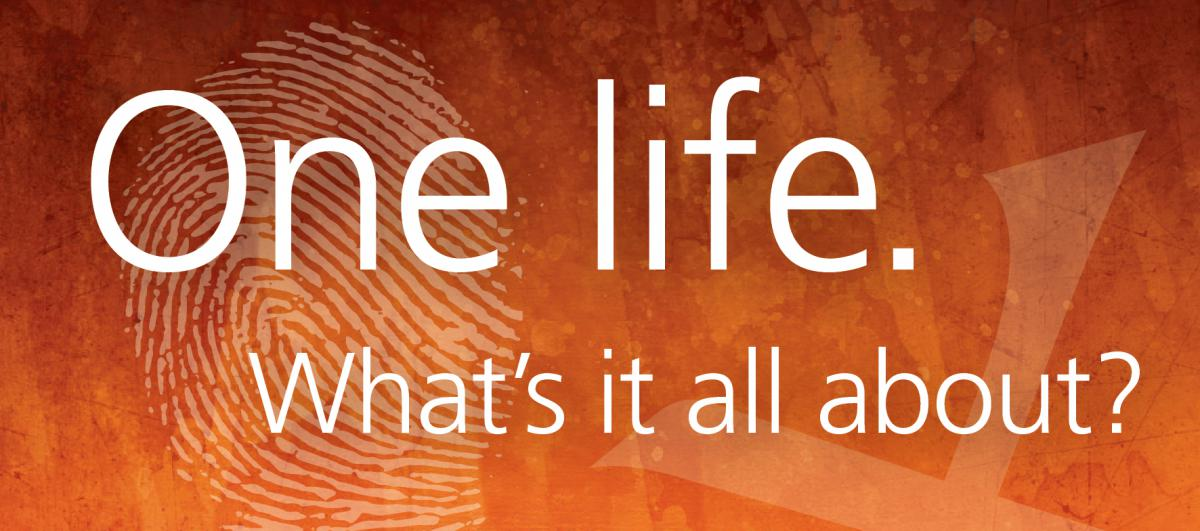 One life.  What's it all about?